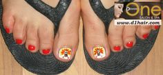 thanksgiving nail art ideas | Toe Nail Art- Thanksgiving Turkeys | Creative Nail Art at Design One ...