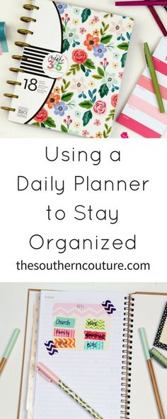 Using a Daily Planner to Stay Organized
