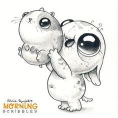 "Cute art Chris Ryniak (@chrisryniak) on Instagram: ""Can I keep it?!  #morningscribbles"""