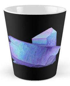 Purple crystal amethyst.  Shop now: http://www.redbubble.com/people/marianamello/works/23611054-purple-crystal-amethyst-angel-aura-quartz-geode?p=mug&style=tall