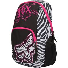 FOX Moto Trip Backpack found on Polyvore maybe neon green or blue instead of pink in my opinion...