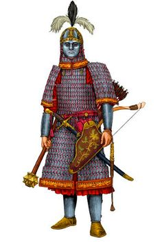 Guardia Mongola Keshik - Asia Centrale, 1223 d. Asian History, European History, Ancient History, Medieval Knight, Medieval Armor, Military Units, Military History, Historical Art, Historical Clothing