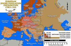 Jewish Population of Europe Before the Holocaust Map
