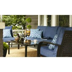 Shop Garden Treasures Lynboro 2 Count Brown Steel Patio Conversation Chairs  At Lowes.com