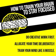 Learn how to stay focused and increase your productivity by avoiding distracting signals. Written for business people, but works for students too! Train Your Brain, Train Your Mind, How To Train Your, Innovation, Personal And Professional Development, Personal Development, Brain Training, Get What You Want, Mind Tricks