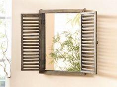 Madera-espejo ventana