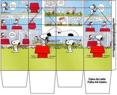 Caixa de Leite  Snoopy: