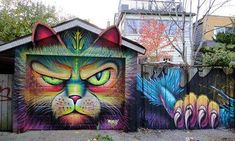 Colorful Cat street art
