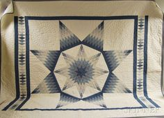 Queen-size Amish Star of Bethlehem Quilt
