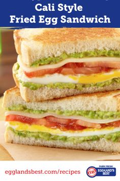Use hearty Italian bread slices for this colorful grilled sandwich; perfect for anytime of day. #Sandwich #Brunch #Lunch