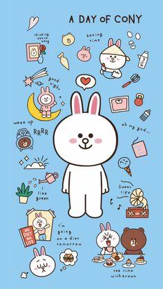 Hello Kitty Wallpaper, Bear Wallpaper, Nature Wallpaper, Cute Little Drawings, Cute Drawings, Cute Backgrounds, Cute Wallpapers, Mondrian, Line Brown Bear