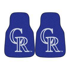 Colorado Rockies MLB Car Floor Mats (2 Front)