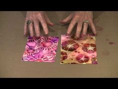 Alcohol Inks On Yupo: Metallics, Stencils, Techniques by Joggles.com - YouTube