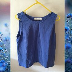 Blue Tank Shirt ✨Cute Blue Tank Shirt✨A little wrinkled but otherwise in good condition❄️ Dress Barn Tops Blouses