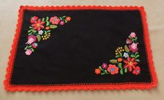 Hand-embroidered matyo tablecloth