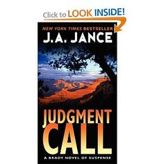 Judgment Call (A Brady Novel of Suspense) by J. A. Jance.  Cover image from amazon.com.  Click the cover image to check out or request the mystery kindle.