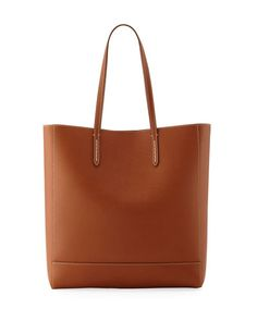 V3H5M Ralph Lauren Modern Leather Tote Bag, Brown