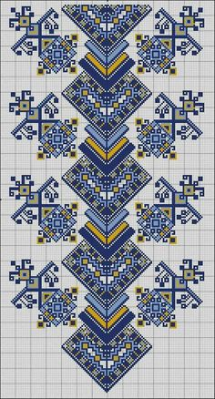 Вышивка Cross Stitch Borders, Cross Stitch Charts, Cross Stitch Designs, Cross Stitching, Cross Stitch Patterns, Folk Embroidery, Cross Stitch Embroidery, Embroidery Patterns, Knitting Patterns