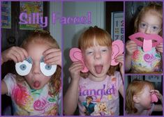5 senses book. Very cute idea! kids have silly faces costumes that they can dress up in and take pictures of each other in