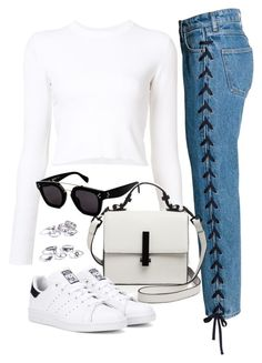 """Sin título #2946"" by camilae97 ❤ liked on Polyvore featuring Proenza Schouler, Kendall + Kylie, adidas Originals and CÉLINE"