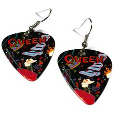 Queen Band Earrings, Guitar Pick Jewelry, A Kind of Magic, Nickel Free Earrings finger picking good Queen Banda, Freddie Mercuri, Guitar Pick Jewelry, Queen Tattoo, A Kind Of Magic, Nickel Free Earrings, We Will Rock You, Queen Freddie Mercury, Killer Queen