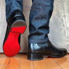 Louboutins red bottoms for men, men formal shoes, man shoes, shoe boots, Men's Shoes, Shoe Boots, Dress Shoes, Shoes Style, Men's Style, Mode Masculine, Louboutin Shoes Mens, Red Bottoms For Men, Style Masculin