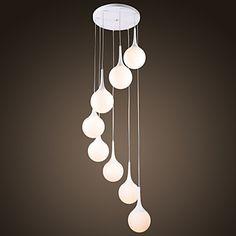 HEYWOOD+-+Lustre+Moderne+-+8+slots+à+ampoule+–+EUR+€+264.59