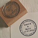 Round Save The Date Personalised Stamp