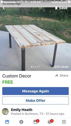 Custom Made Rustic Dining Room Table