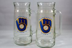 Hey, I found this really awesome Etsy listing at https://www.etsy.com/listing/173967005/set-of-two-2-vintage-milwaukee-brewers