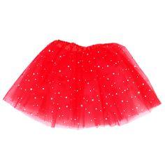 2-8 éveseknek való piros csillogó tütü / tüll szoknya