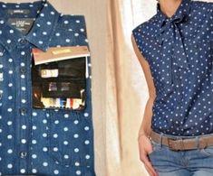 Bildergebnis für transformer un chemisier Pop Couture, Couture Sewing, Couture Tops, Diy Clothes Refashion, Shirt Refashion, Diy Shirt, Umgestaltete Shirts, Men's Shirts And Tops, Sewing Clothes