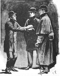 """""""You are the very man"""" — illustration to Arthur Conan Doyle's """"The Adventure of the Blue Carbuncle"""" by Sidney Paget"""