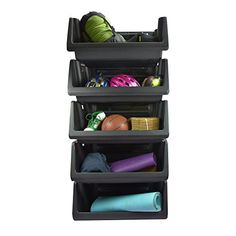 Husky Stackable Storage Bin Garage Organization