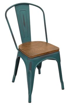 industrial restaurant furniture. Viktor Steel Restaurant Chair With Distressed Kelly Blue Finish - Bar \u0026  Furniture, Tables Industrial Restaurant Furniture R