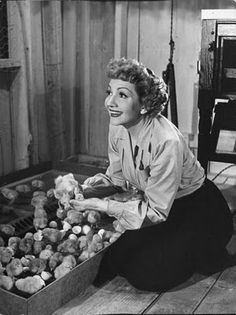 """Claudette Cobert in the movie """"The Egg and I."""" Fabulous movie, fab actress."""