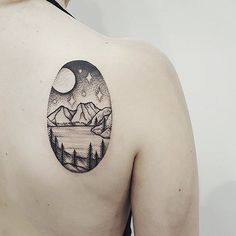 Cradle Mountain, Tasmania. By Ben Doukakis of The Darling Parlour, Sydney. Done at the Australian Tattoo and Body Art Expo, Melbourne.