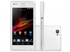 "Smartphone Sony Xperia M Dual Chip 3G Android 4.1 - Câm. 5MP Tela 4"" Proc. Dual Core 1Ghz Wi-Fi A-GPS"