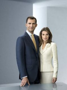 Official Pictures of Spanish Prince Felipe and Princess Letizia