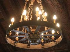 Lighted wagon wheel chandelier                                                                                                                                                                                 More