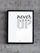 Plakat №158 — Never give up