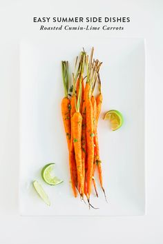 Easy Summer Side Dishes: Roasted Cumin-Lime Carrots