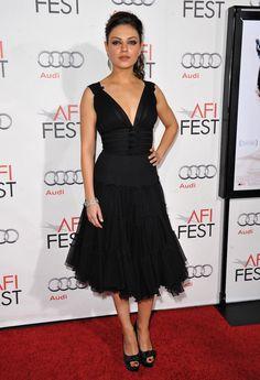 Mila Kunis + Black dress