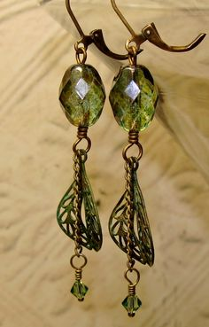 Martini with olives patina earrings. $22.00, via Etsy.