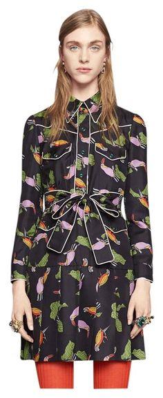 Gucci Dress Toucan Print Silk Size 40 $ 2 800. Free shipping and guaranteed authenticity on Gucci Dress Toucan Print Silk Size 40 $ 2 800Authentic Gucci Toucan Print Silk Shirtdress Dress...