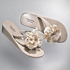 Another comfy pair of shoes from Vera Wang (only $15.49 on sale!) that could be perfect for bridesmaids!