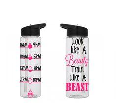 Motivational Water Bottle, Personalized Water Bottle, Water Tracking Bottle