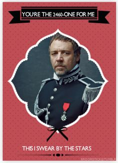 Les Mis Valentines day card. Ha if I knew someone that liked Les Mis I'd give them this..
