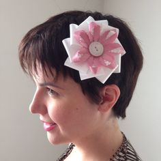 A personal favorite from my Etsy shop https://www.etsy.com/ca/listing/244225914/large-white-pink-clip