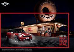 A car with a sense of irony. Is Not NorMal! Mini Cooper Clubman, Mini Coopers, Morris Minor, Mini Donuts, Smart Car, Mini Me, Monster Trucks, Poppy, Classic